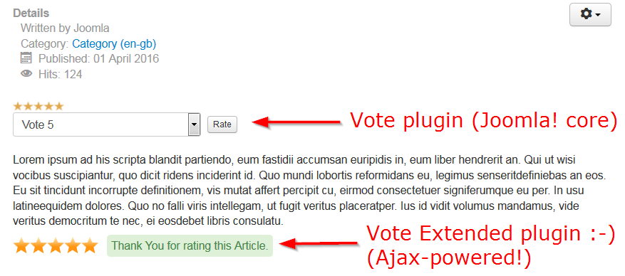 Joomla Vote Extended - Preview